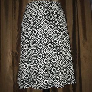 White House Black Market -Black and White skirt.